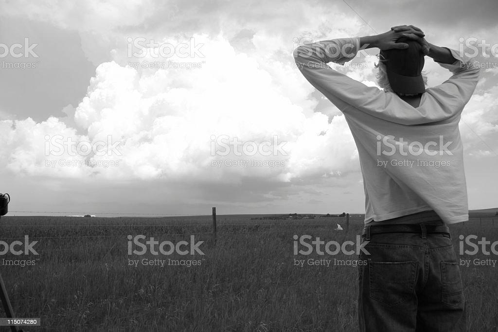 Thunderhead watcher stock photo