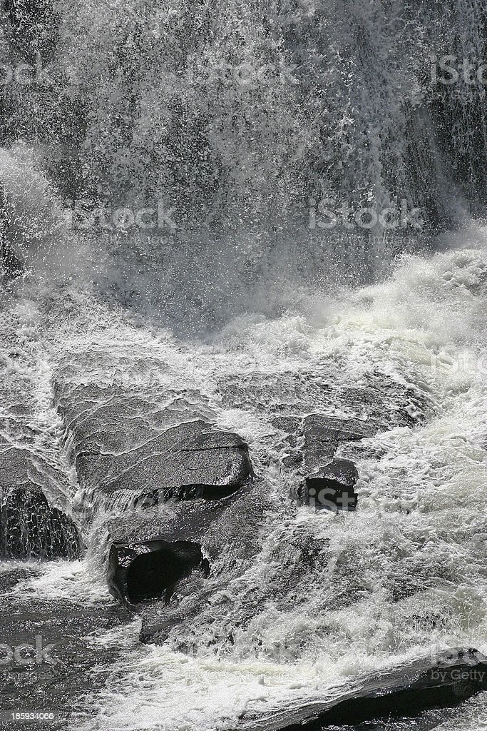 Thunderous Falling Water royalty-free stock photo