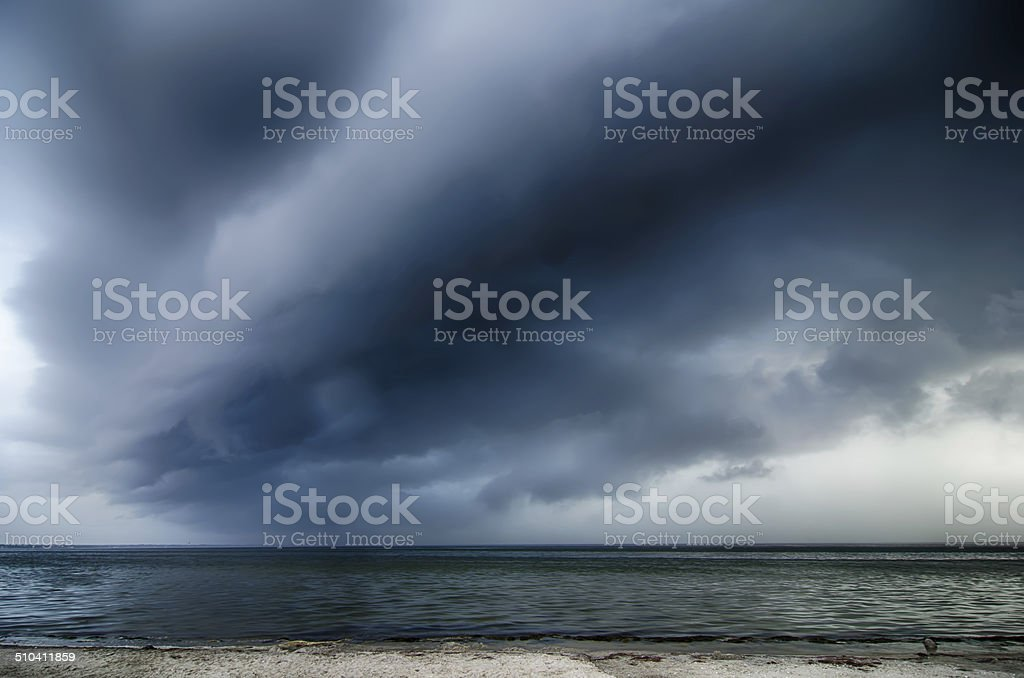 thunderstorm cloud stock photo