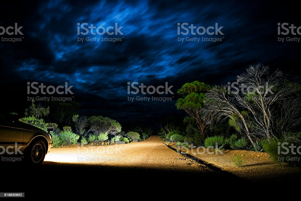 Thunderstorm clouds in Outback, Western Australia, Australia stock photo