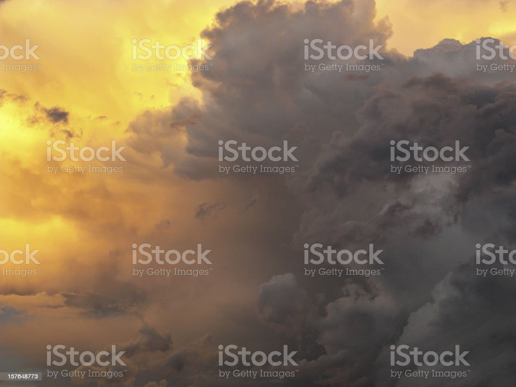 Thunderstorm Clouds Monsoon Dramatic Sky royalty-free stock photo