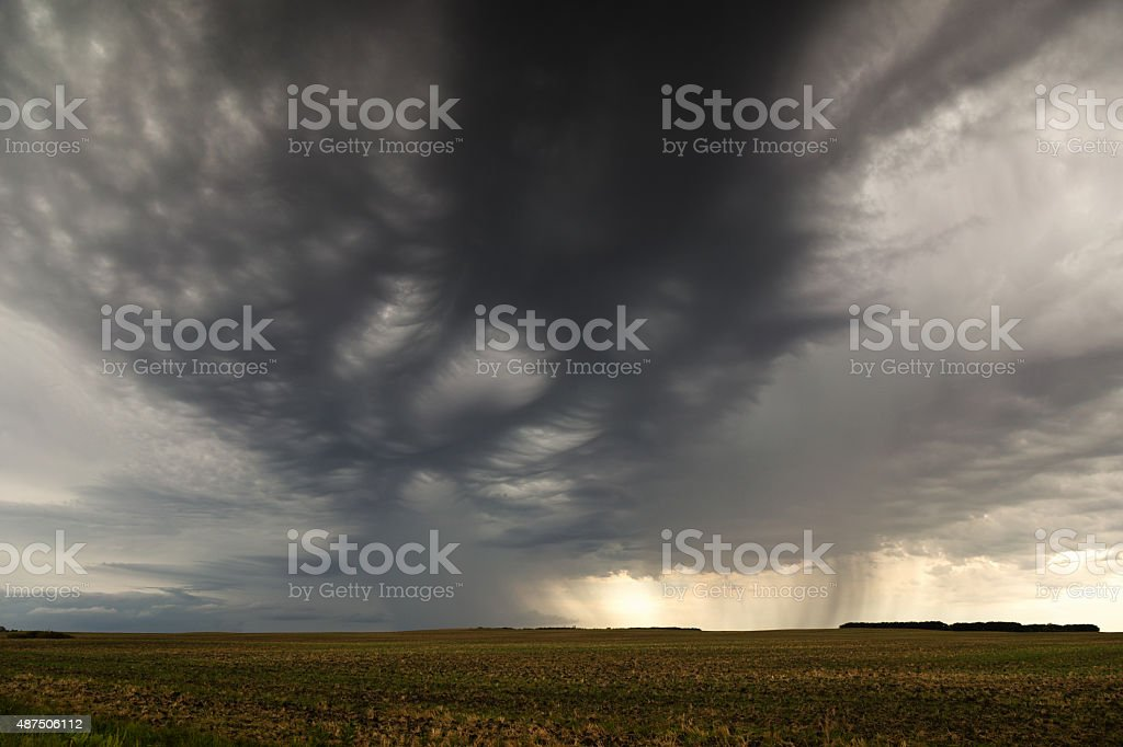 Thunderstorm Clouds with Heavy Rain stock photo