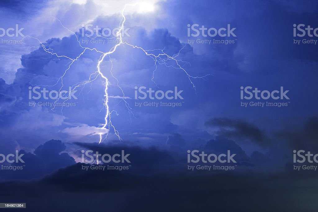 Thunderstorm Cloudscape stock photo