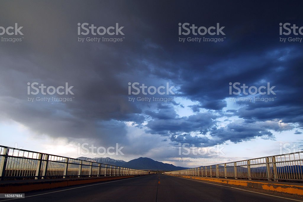 Thunderstorm Coming Ahead stock photo