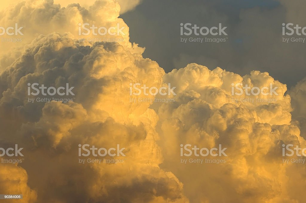 Thunderstorm moving in at sunset 06 royalty-free stock photo