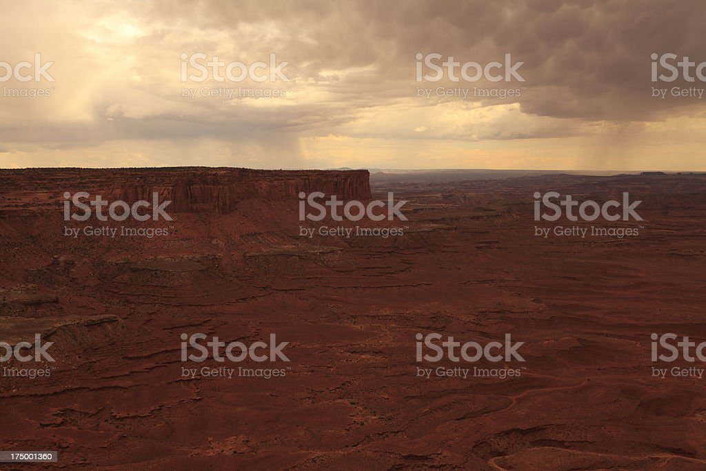 Thunderstorm on Canyonlands National Park royalty-free stock photo