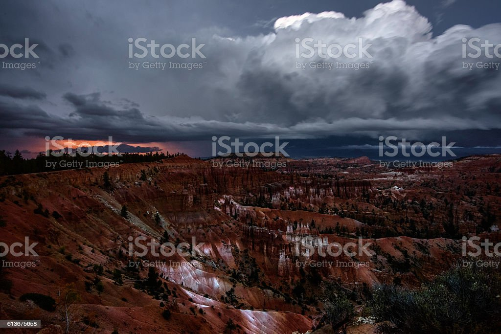 Thunderstorm over Bryce Canyon stock photo