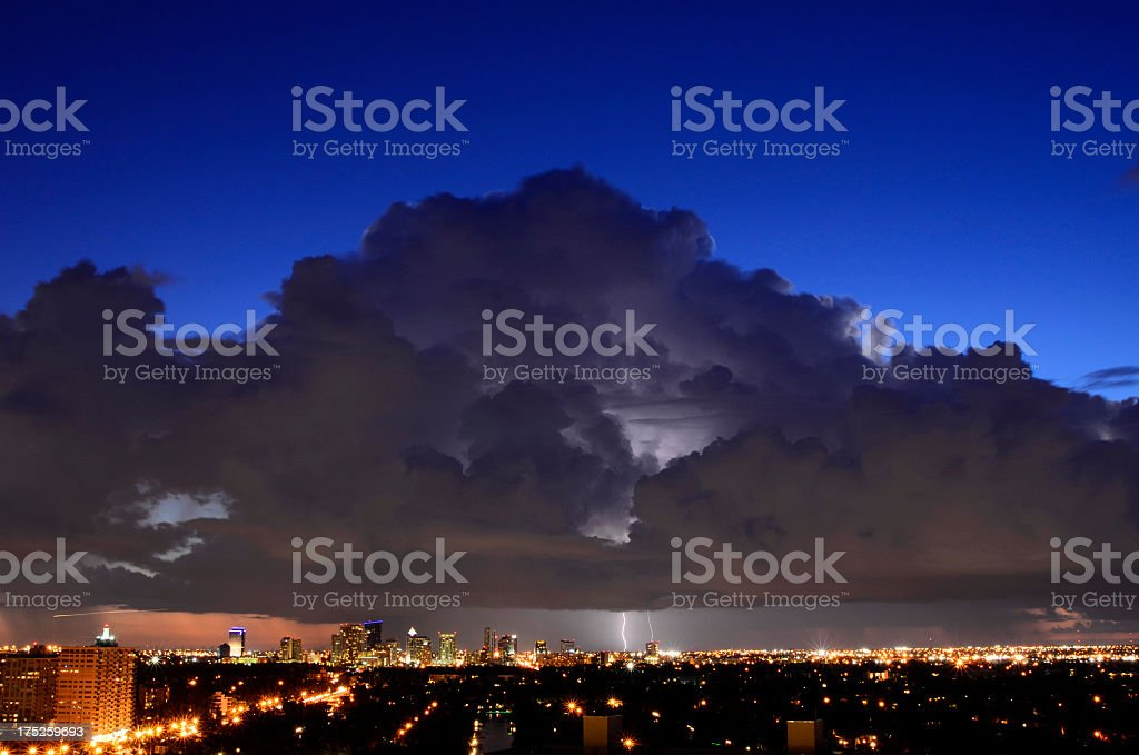 Thunderstorm over Fort Lauderdale - Florida royalty-free stock photo