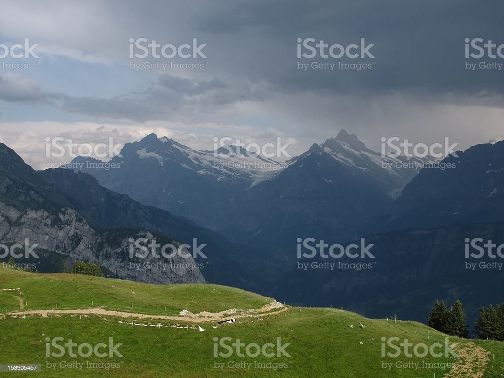 Thunderstorm Over Grindelwald royalty-free stock photo
