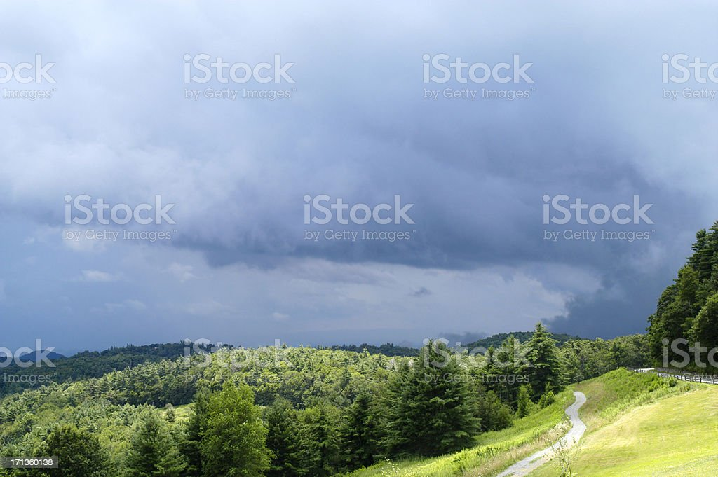 Thunderstorm over Mountains royalty-free stock photo