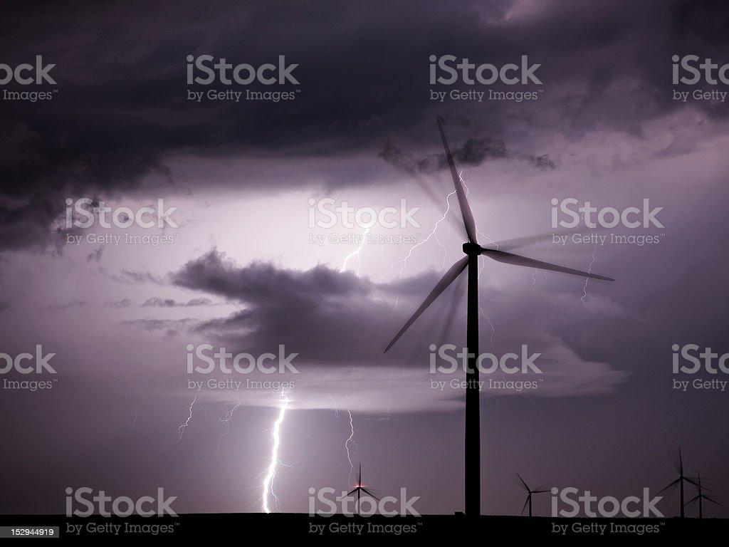 Thunderstorm royalty-free stock photo