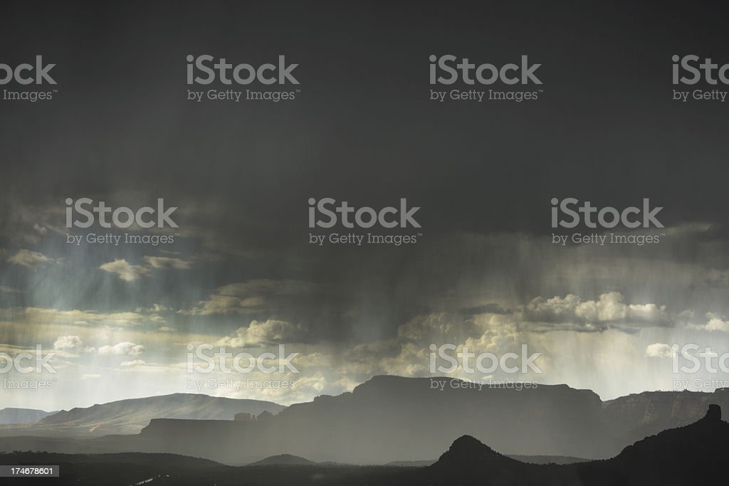 Thunderstorm Rain Hail Microburst stock photo