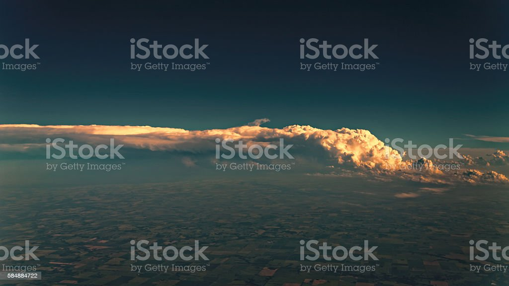 Thunderstorm weather clouds stock photo