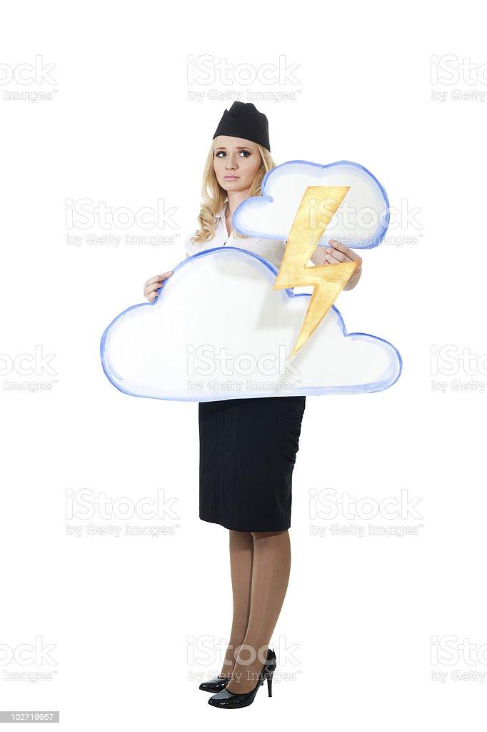 thunderstorm weather forecast royalty-free stock photo