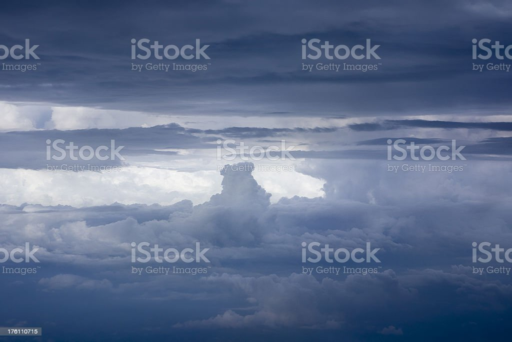 Thunderstorms royalty-free stock photo
