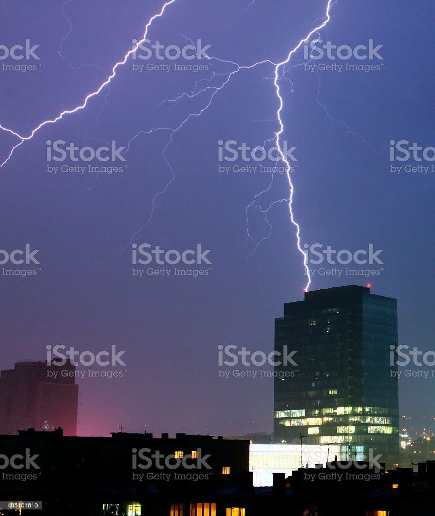 Thunderstruck stock photo
