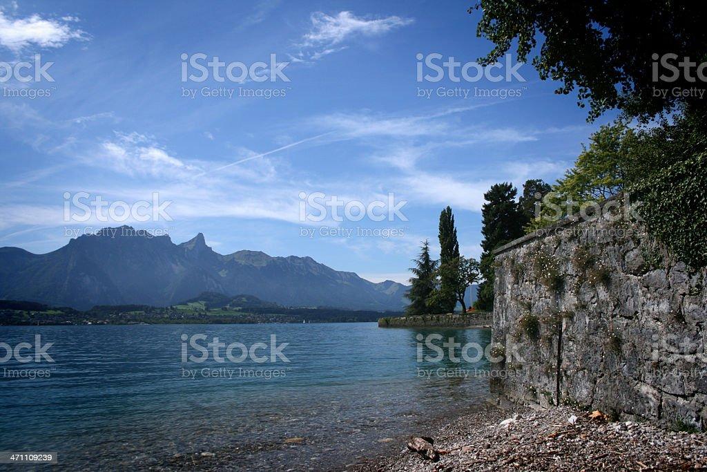 Thunersee - Lake Thun royalty-free stock photo
