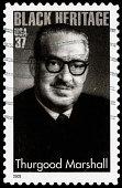 USA Thurgood Marshall postage stamp