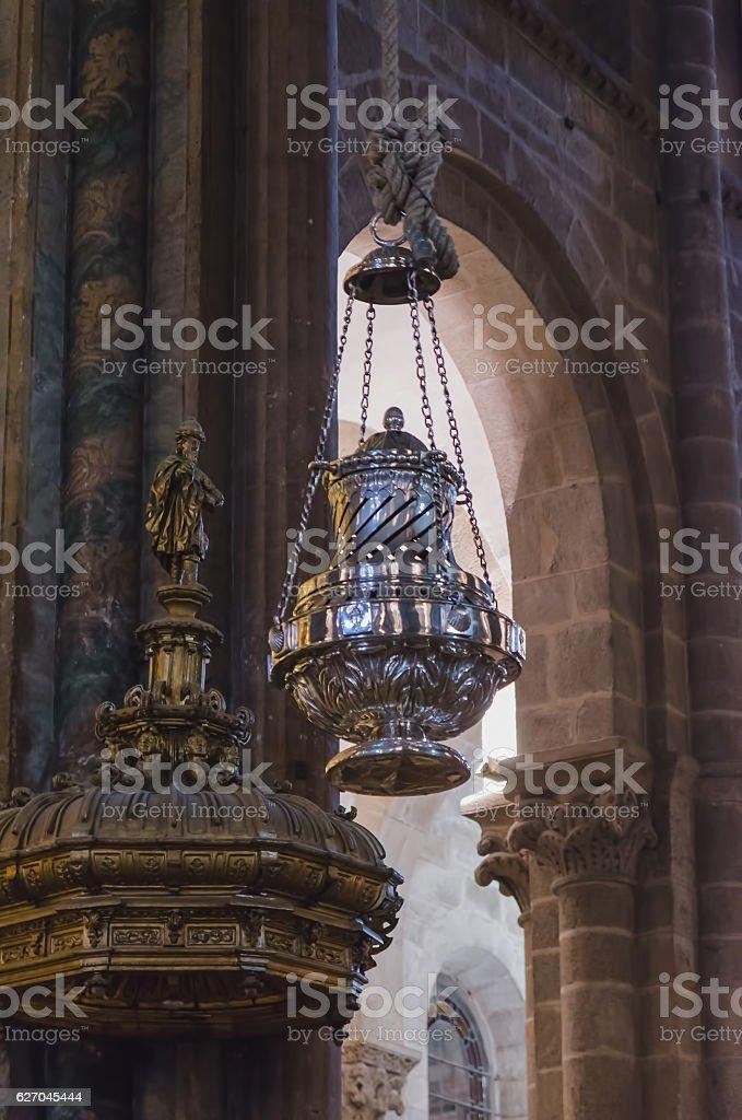 Thurible in Santiago de Compostela Cathedral Botafumeiro stock photo