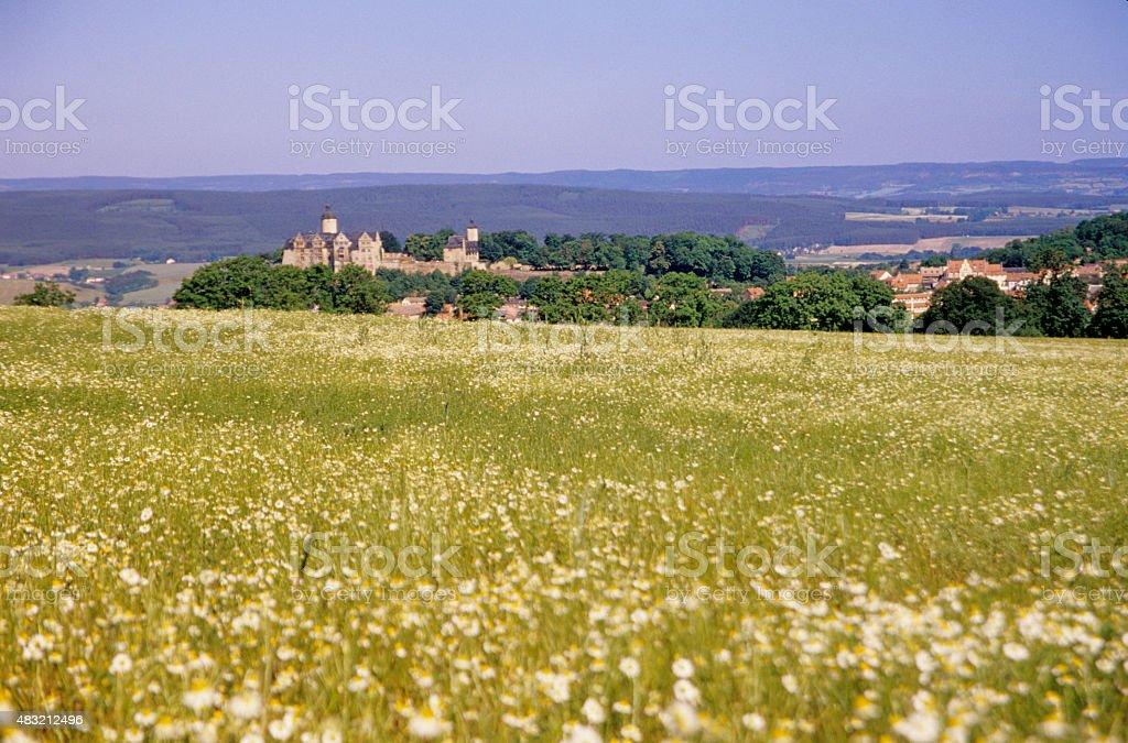 Thuringia,Ranis castle stock photo