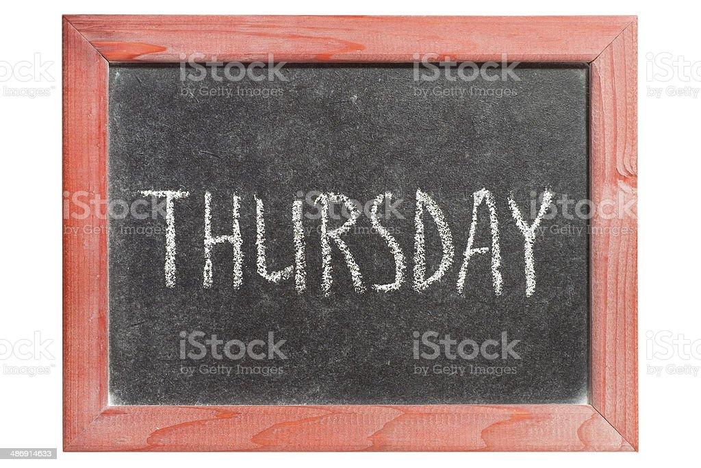 Thursday stock photo
