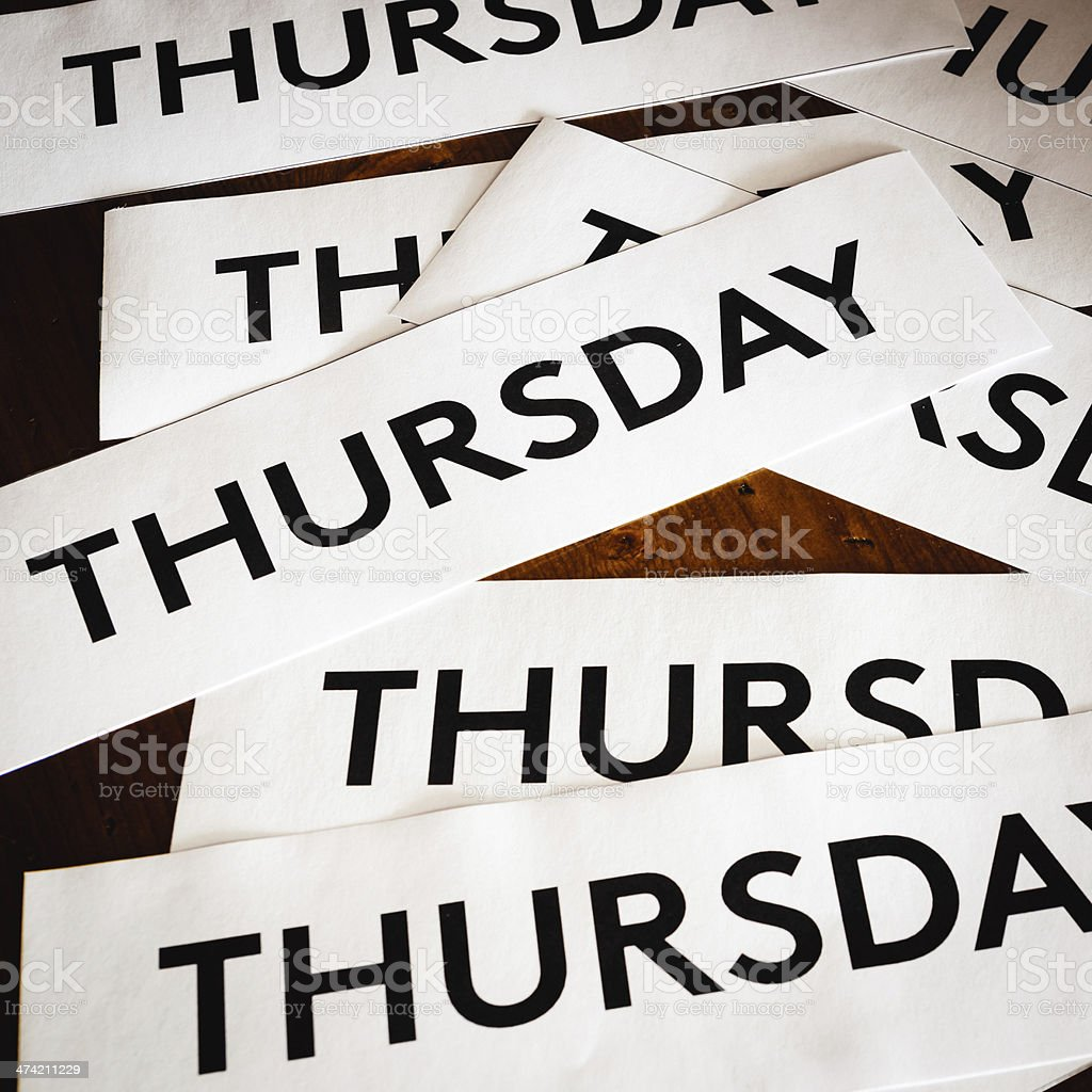 Thursday texture background royalty-free stock photo