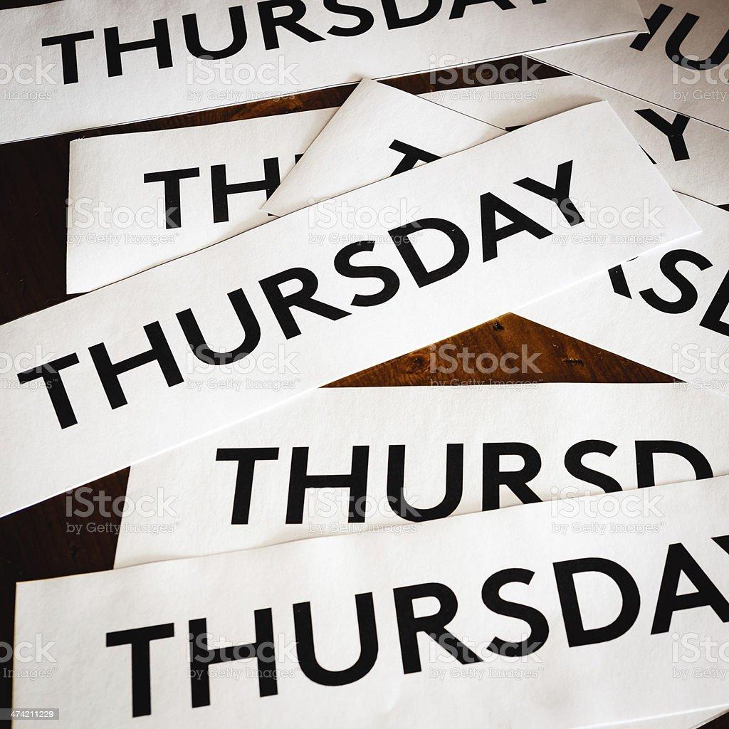 Thursday texture background stock photo
