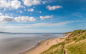Thurstaston beach on the wirral UK.