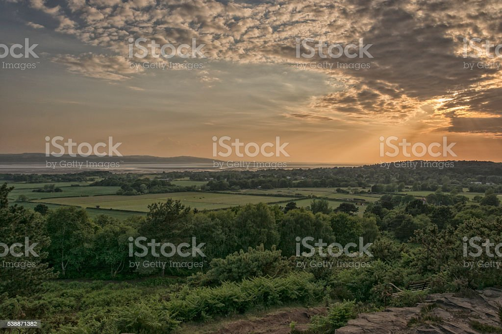 Thurstaston - Red Rock Sunset stock photo