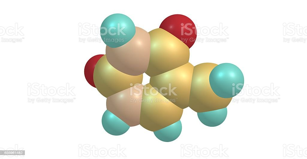 Thymine molecular structure isolated on white stock photo