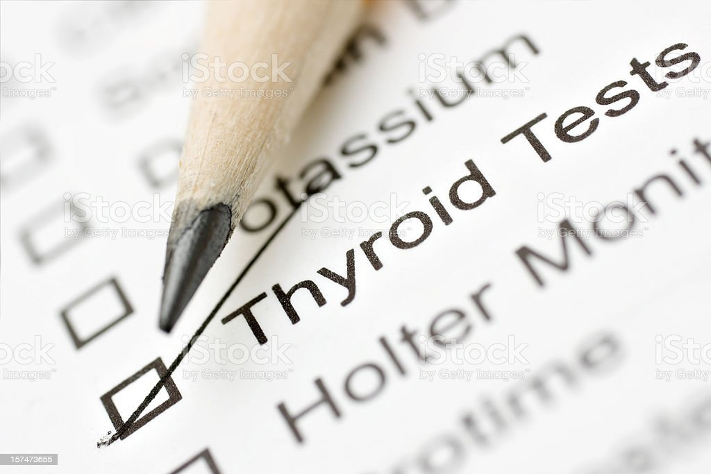 thyroid lab report royalty-free stock photo