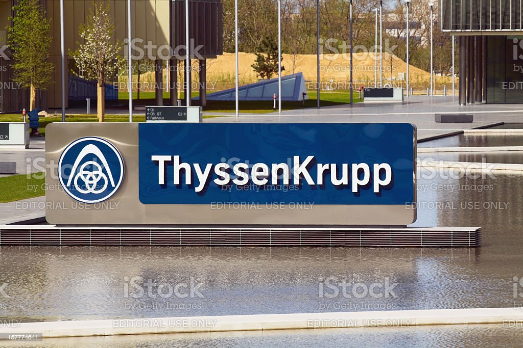 Thyssen Krupp company Essen stock photo