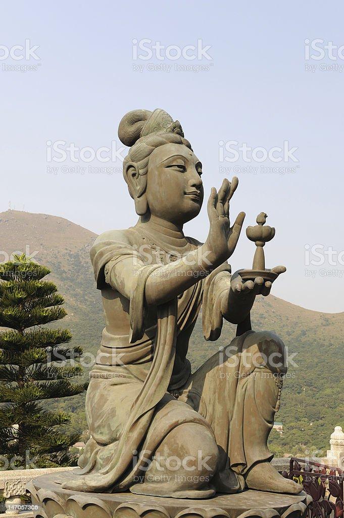 Tian Tan Buddha in Hong Kong royalty-free stock photo