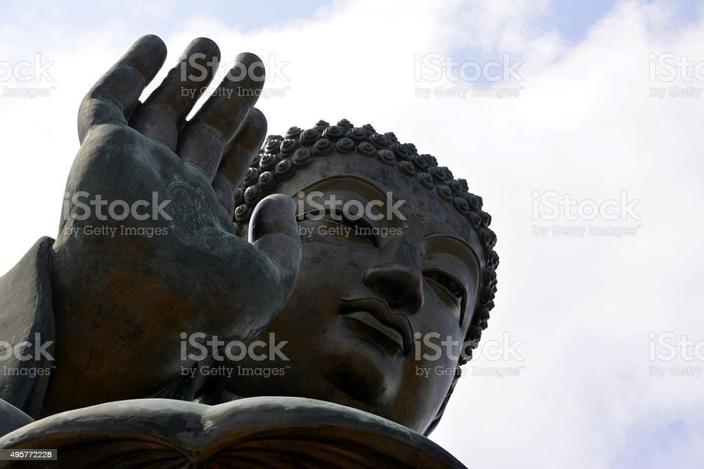 Tian Tan Buddha in Lantau island, Hong Kong stock photo