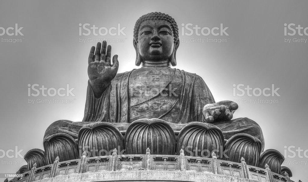 Tian Tan Buddha of Hong Kong royalty-free stock photo