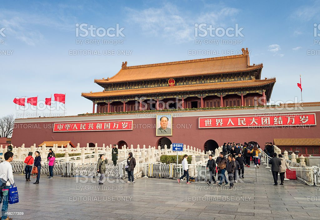 Tiananmen - Gate of Heavenly Peace in Beijing royalty-free stock photo