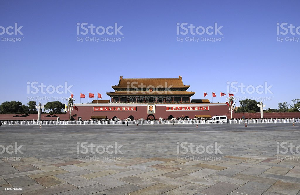 Tiananmen square of Beijing stock photo