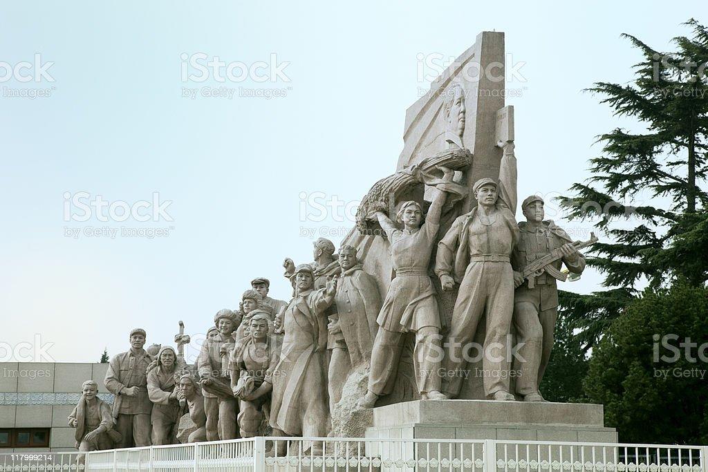 Tiananmen Square Statue royalty-free stock photo