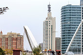 tianjin office building and bridge