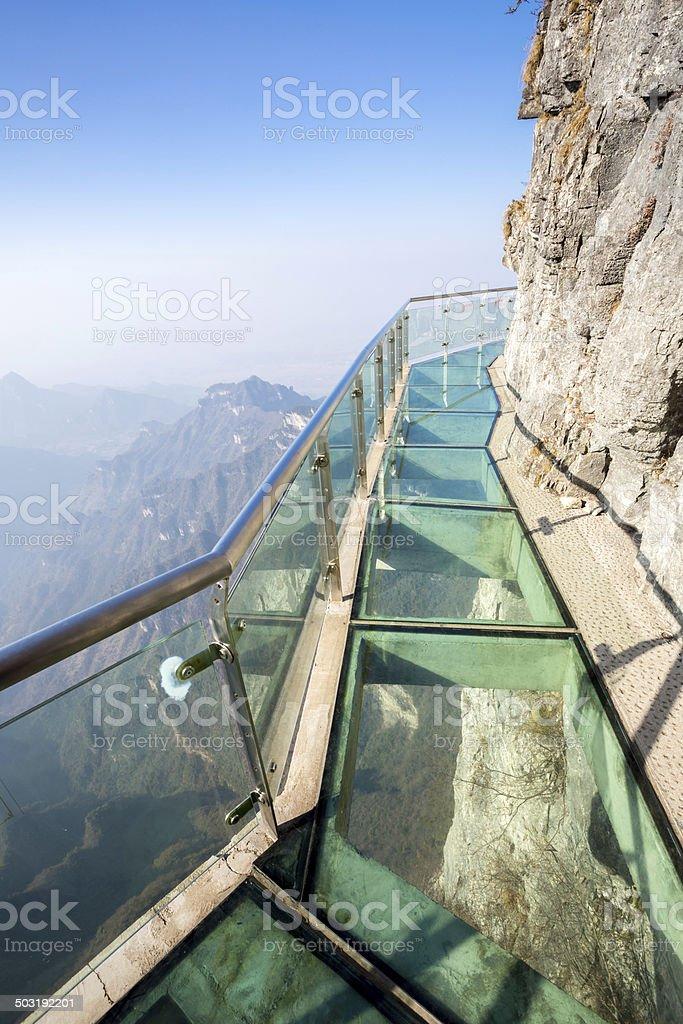 Tianmen Mountain China stock photo