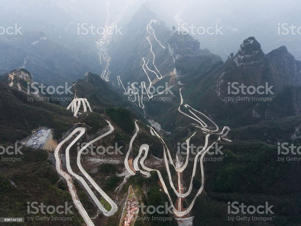 Tianmen Mountain stock photo