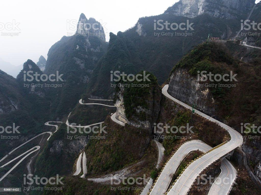 Tianmen Mountain stock photo
