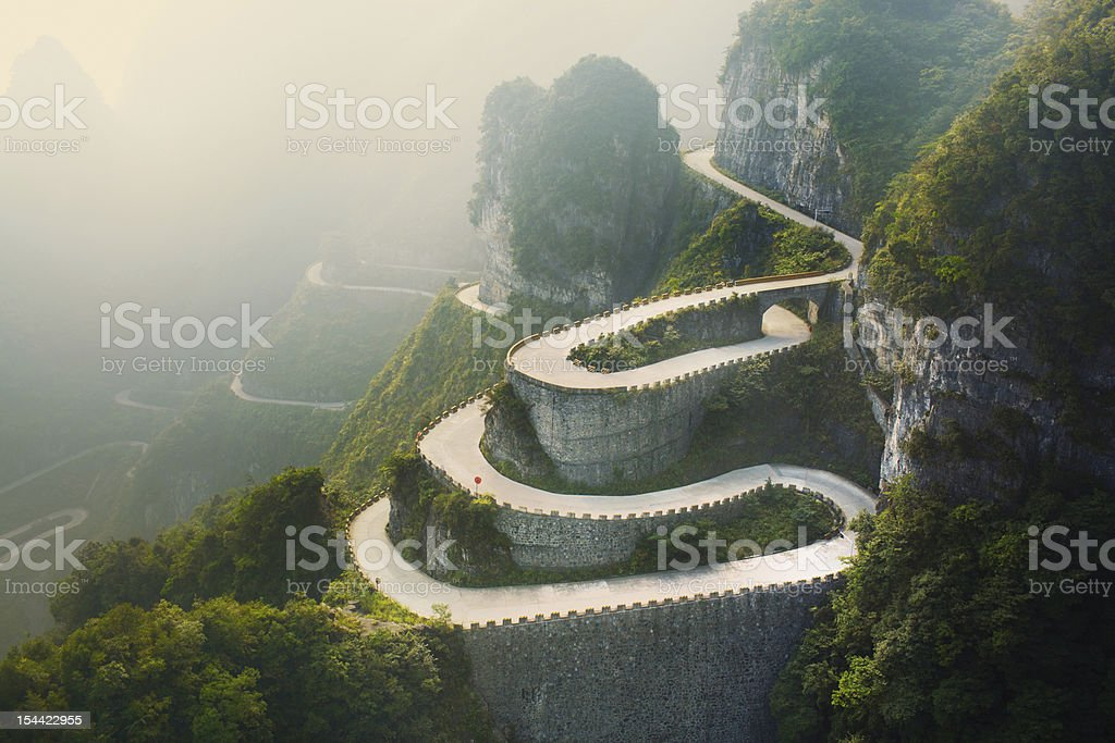 Tianmenshan Landscapes royalty-free stock photo