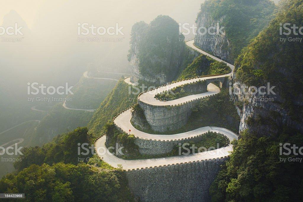 Tianmenshan Landscapes stock photo