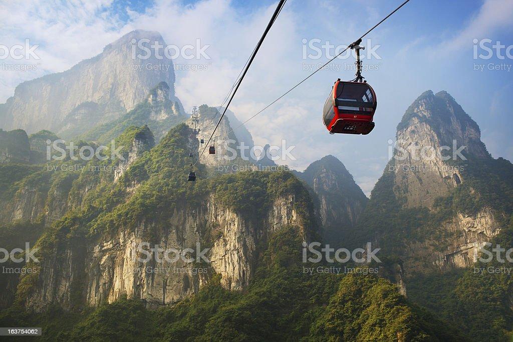 Tianmenshan Landscapes royalty-free stock photo