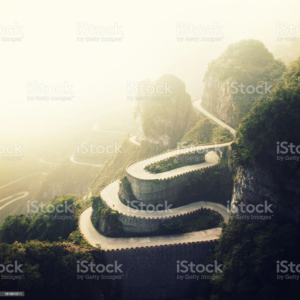 Tianmenshan Landscapes stock photo