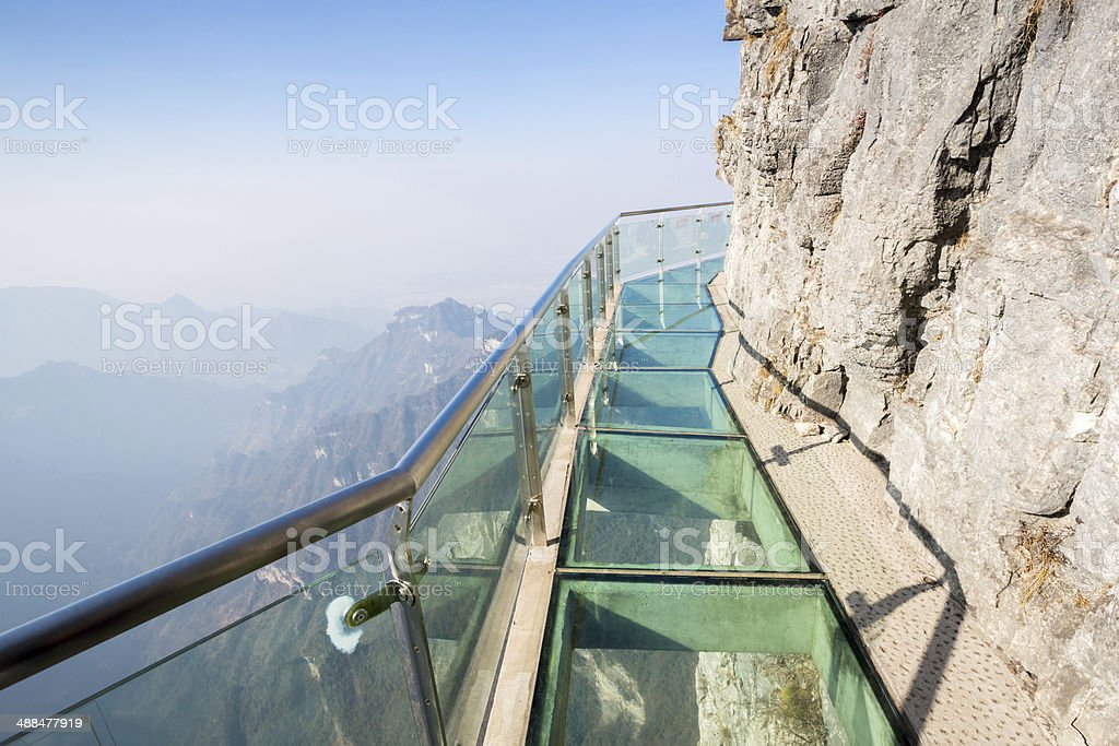Tianmenshan Tianmen Mountain China stock photo