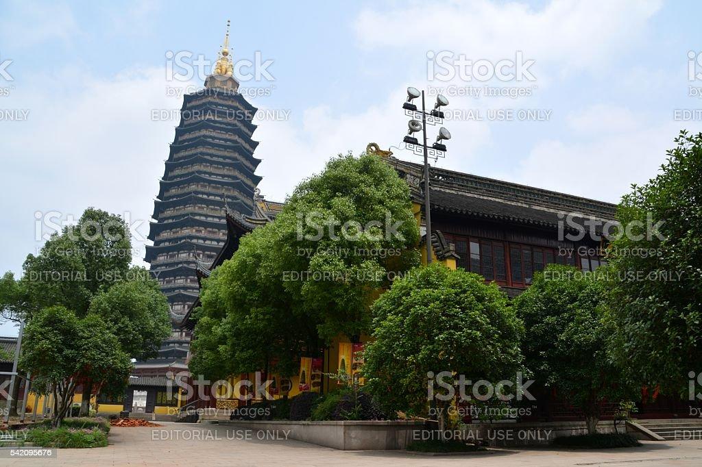 Tianning pagoda, Changzhou, Jiangsu province, China stock photo
