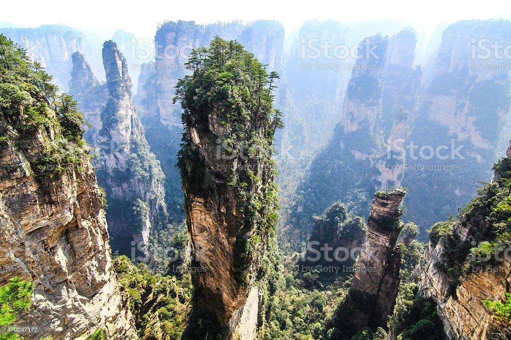 Tianzi Shan Mountain Peak in Zhangjiajie, Hunan Province, China stock photo