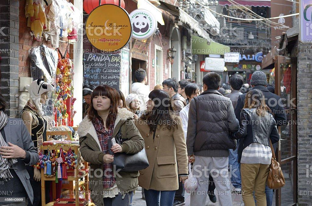Tianzifang, Taikang lu in Shanghai stock photo